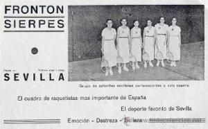 Cuadro de raquetistas del frontón Sierpes