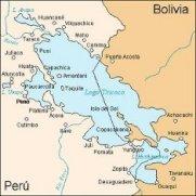 Mapa del Lago Titicaca