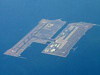 ¡El aeropuerto en una isla artificial!